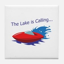 THE LAKE IS CALLING Tile Coaster