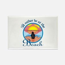RATHER BE AT THE BEACH Magnets