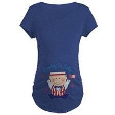 Coming In July Due Date Maternity T-Shirt
