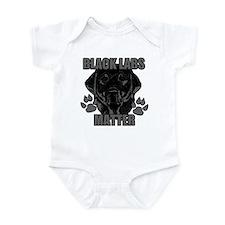 Black Labs Matter Infant Bodysuit