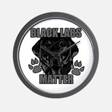 Black Labs Matter Wall Clock