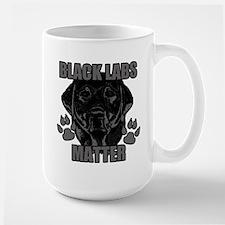 Black Labs Matter Large Mug