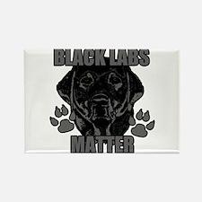 Black Labs Matter Rectangle Magnet