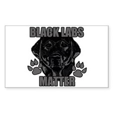 Black Labs Matter Decal