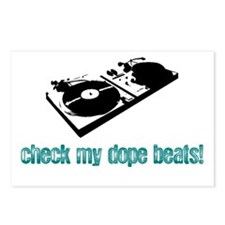 DJ Turntable Graphic Postcards (Package of 8)