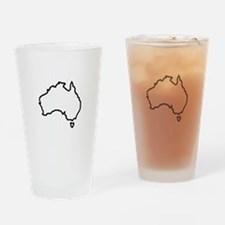 OPEN AUSTRALIA OUTLINE Drinking Glass
