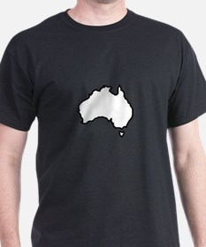 OPEN AUSTRALIA OUTLINE T-Shirt