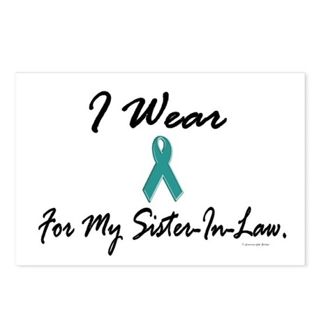 I Wear Teal For My Sister-In-Law 1 Postcards (Pack