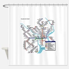 Pennsylvania Public Transportation Shower Curtain