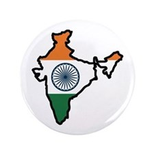 "INDIA MAP FLAG 3.5"" Button"