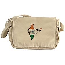 INDIA MAP FLAG Messenger Bag