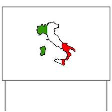 ITALY MAP FLAG Yard Sign