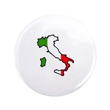 """ITALY MAP FLAG 3.5"""" Button"""