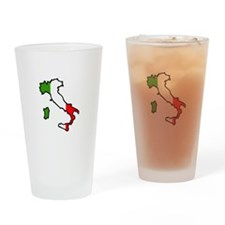 ITALY MAP FLAG Drinking Glass