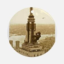 King Kong: Empire State Building Ornament (Round)