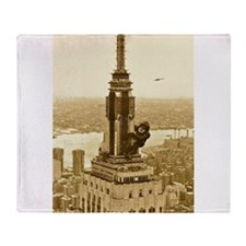 King Kong: Empire State Building Throw Blanket