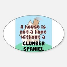 Clumber Home Oval Decal