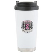 Breast Cancer Victory Travel Mug