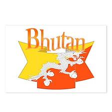 Bhutan Ribbon Postcards (package Of 8)
