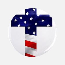 "One nation under God 3.5"" Button"