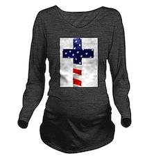 One nation under God Long Sleeve Maternity T-Shirt