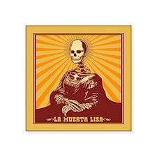 """La Muerta Lisa Square Sticker 3"""" x 3"""""""