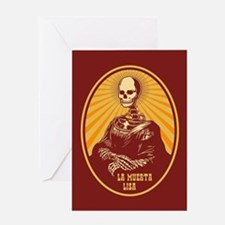La Muerta Lisa Greeting Card
