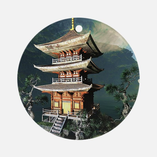 Asian Temple Ornament (Round)