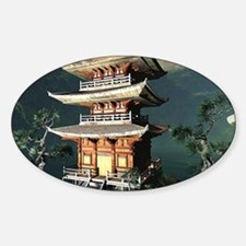 Asian Temple Decal