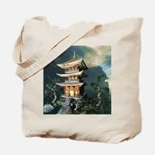 Asian Temple Tote Bag