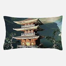 Asian Temple Pillow Case