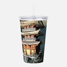 Asian Temple Acrylic Double-wall Tumbler