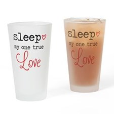 Cute Bed Drinking Glass