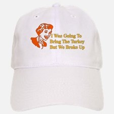 Retro Thanksgiving Humor Baseball Baseball Cap