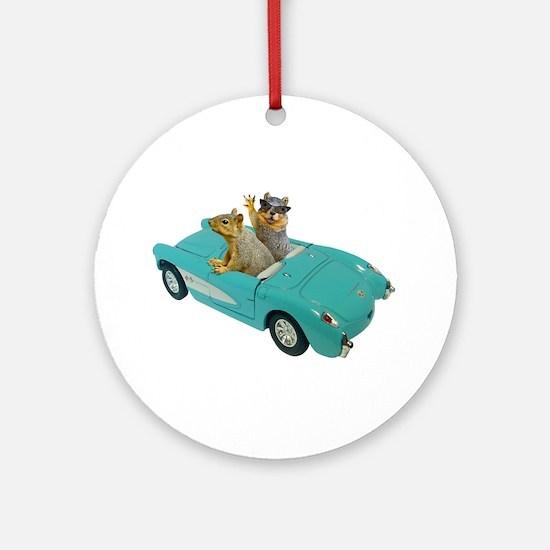 Squirrels Car Ornament (Round)