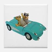 Squirrels Car Tile Coaster