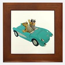 Squirrels Car Framed Tile