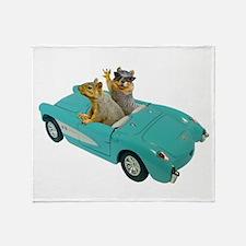 Squirrels Car Throw Blanket
