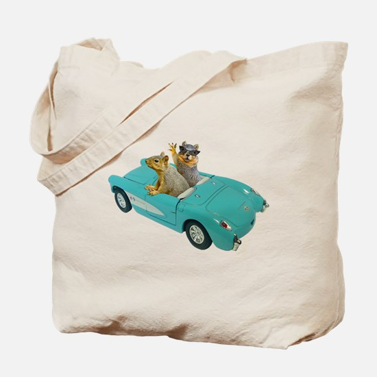 Squirrels Car Tote Bag
