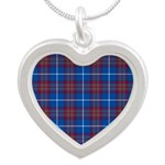 Tartan - Edinburgh dist. Silver Heart Necklace