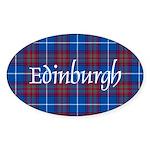 Tartan - Edinburgh dist. Sticker (Oval)