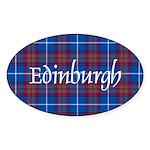 Tartan - Edinburgh dist. Sticker (Oval 50 pk)