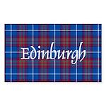 Tartan - Edinburgh dist. Sticker (Rectangle 50 pk)