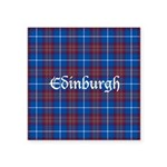 Tartan - Edinburgh dist. Square Sticker 3