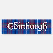 Tartan - Edinburgh dist. Bumper Bumper Sticker