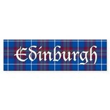 Tartan - Edinburgh dist. Bumper Sticker