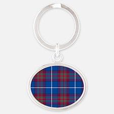 Tartan - Edinburgh dist. Oval Keychain