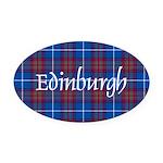 Tartan - Edinburgh dist. Oval Car Magnet