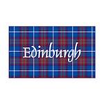 Tartan - Edinburgh dist. Rectangle Car Magnet