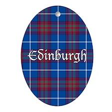 Tartan - Edinburgh dist. Ornament (Oval)